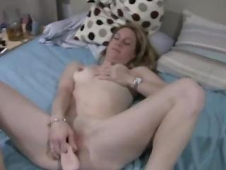 My Wife Fucking Herself With A Large Dildo And Sucking On It