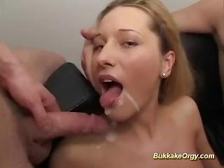 Cute Teens First Bukkake Gangbang