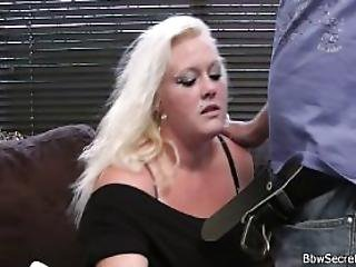Wife Leaves And He Cheats With Chubby Blonde