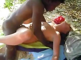 Cuckold - White Slut Fucked By Bbc At The Beach