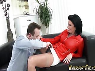Pissing Slut Masturbates