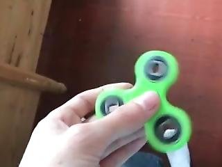 Crazy Slow-mo Green Herpes Spinner (try Not To Cum Challenge) One-handed