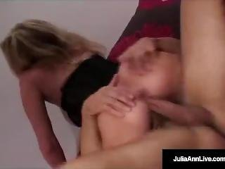 Classy Milf Julia Ann Bangs Denis Marti & Gets Cum In Mouth!