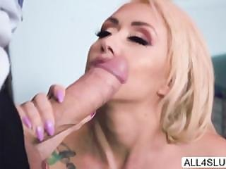 blond, blowjob, klinik, deepthroat, tissemand, doggystyle, kneppe