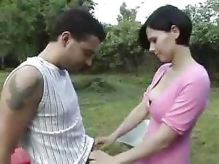 Sexy French Girl Anal In The Garden