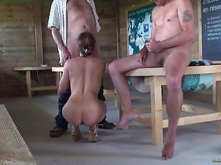Amateur, Blowjob, French, Nature, Threesome, Voyeur