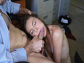 Shyla Ryder Giving Her Boss Mr Rich A Blowjob