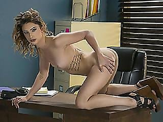 Alena Croft Shares An Amazing Threesome On The Desk