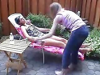 Licking Feet Girl Bikini