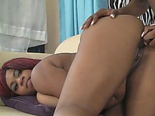 Chocolate Delights With Huge Tits Going Deep With A Dildo