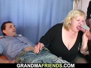 Huge Grandma Riding And Sucking At Same Time