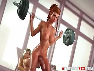 Amazing Futanari 3d Chicks With Long Fuck Tools Hammering Away At Skinny 3d Babe In Various Positions