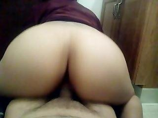Latina Riding My Dick Reverse Cowgirl