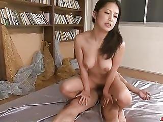 Asiática, Broche, Peituda, Creme, Creampie, Sexo Em Grupo, Japonesa, Milf