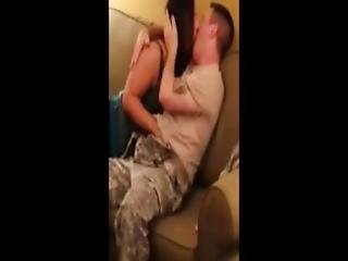 Soldier On A Leave Fucking A Real Milf In A Hotel