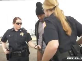 ερασιτεχνικό, Bisexual, μαύρο, μεγάλος, αστυνομία, τριο, στολή