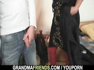 3some, abuela, madura, vieja, coño, threesome