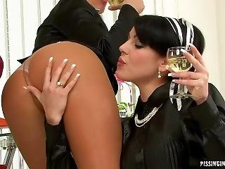 Pissing Threesome White Wine And Whiz