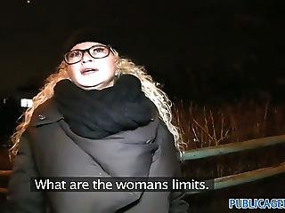 Publicagent Sexy Girl In Glasses In Fucked On Public Stair C