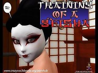 3d Comic: Training Of A Geisha