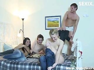 Sexix.net - 28752-youngsexparties Teen Swingers Fucking In Bed