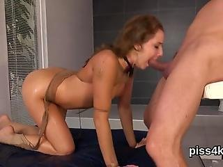 Breathtaking Centerfold And Her Mate Enjoy Pissing On Each Other And Lick Warm Pee When Cumming