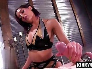 Hot Pornstar Bondage And Cum Eating