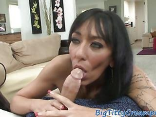Inked Milf Tittyfucking Hard Dick In Pov