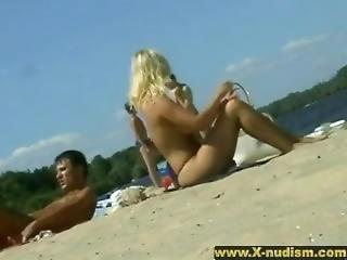 ametérské, pláž, nudisti, veřejné, skutečnost