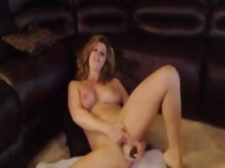 amatør, blond, brystet, dildo, fingering, hjemme, hjemmelaget, milf, stønning, rosa, fitte, solo, webcam