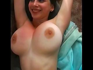 Horny Yulia Teases With Hard Nipples Big Boobs