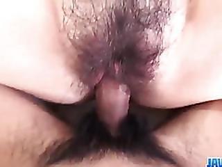 Ayumi Kisa Feels Massive Dick In Her Hairy Cherry