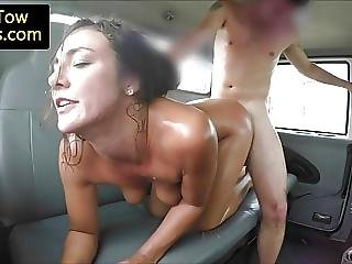 Stranded Lady Doggystyled By Tow Truck Driver