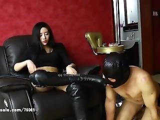 Sexy Asian Riding Slave And Foot Worship