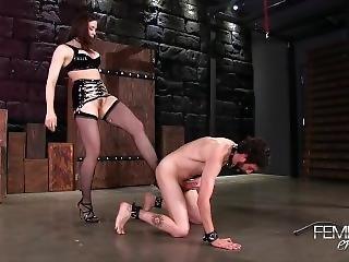 Sexy Legged Mistress Ballbusting
