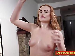 Sexy Redhead Eva Berger Loves Getting Tasting Her Own Juices