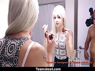 blondynka, ruchanie, domowe, sąsiadka, biała