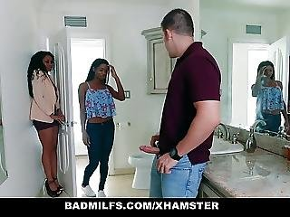 Badmilfs Ebony Milf Fucks Son In Law