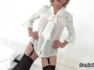 Buxom Bisexual Slutwife Lady Sonia Caresses Her Huge Boobs And Pleases Spread Kitty In Lingerie