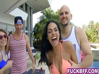 Daring Bikini Teens Invade Their Neighbors Mansion