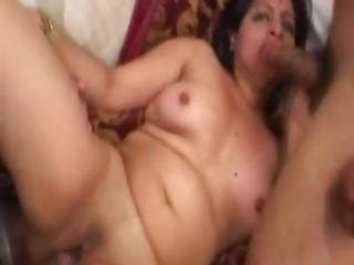Indian Babe In A Threesome Fucked And Jizzed On