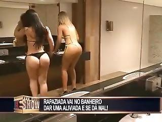 anal, arsch, badezimmer, fetter arsch, ficken, harter porno, öffentlich