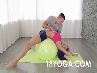 Anal, Ass, Cream, Creampie, Fucking, Teen, Tight, Workout, Workplace, Yoga