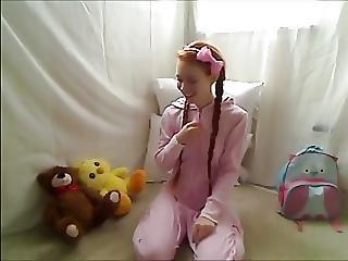 Amatoriale, Bambola, Piede, Adolescente Bona, Masturbazione, Rossa, Adolescente, Giovane