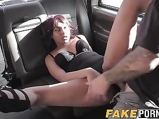 Driver Feeds His Hungry Cock With His Customers Hot Pussy