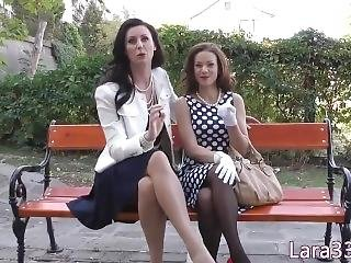 Lesbian Petite Pussyfingered By Brit Mature