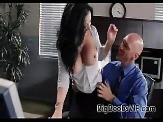 Secretary With Big Tits Get Fucked Hard By Boss