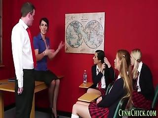 задница, CFNM, сперма, учитель