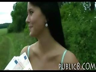 Amazing Czech Beauty Fucked And Facialed In Public For Cash