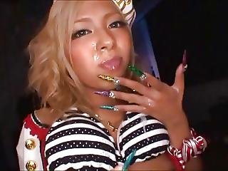 Asian With Long Nails Bj Wearing Sailor Hat